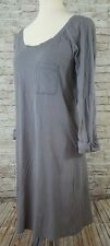 velvet by graham spencer womens dress gray shirt roll sleeves size large