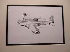French Morane Saulnier #406    artist penink drawing 1964 New York Worlds Fair