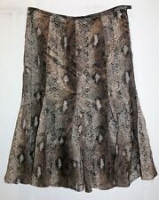 KAMIKO Brand Woman's Reptile Printed A Line Skirt Size 18 LIKE NEW #AN02