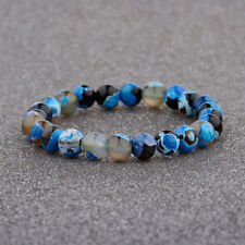 8MM Man Wowan Fashion Mini blue Beaded Cuff Charm Bangle Natural Stone Bracelet