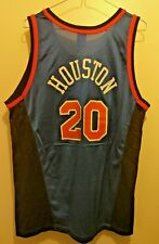 CHAMPION NBA di New York Knicks-Allan Houston #20 44 grandi Jersey Navy EUC Ewing
