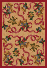 "5x8 Milliken Bells & Bows Chimes All-Over Christmas Area Rug - Approx 5'4""x7'8"""