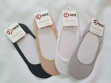 3 Paar Füßlinge Damen Ballerina Sneaker Footies unsichtbare Socken vier Farben