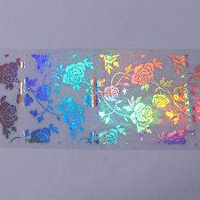 Chic Women's Nail Foil Rose Flower Lace Laser Manicure Nail Art Transfer Sticker