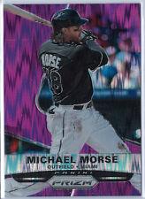 2015 Panini Prizm Michael Morse Purple Lava Parallel 64/99 Marlins