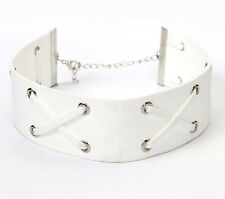 GOTHIC RIBBON KNOTTED CHOKER PUNK LEATHER SUEDE COLLAR BEACH EVERYDAY FASHION
