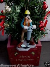 DISNEY MICKEY MOUSE GOOFY WORKING CONSTRUCTION CUSTOM CHRISTMAS ORNAMENT NEW