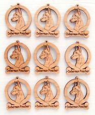 Doberman Pinscher Mini Ornaments Box of 9