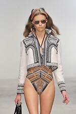 HOLLY FULTON Key Hole Animal Tribal Print Cut Out Monokini Bathing Suit  S