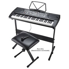 More details for 61 keys electronic full size keyboard digital mp3 music piano microphone uk plug