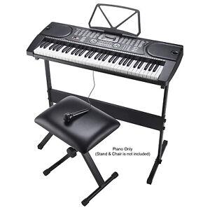 61 Keys Electronic Full Size Keyboard Digital MP3 Music Piano Microphone UK Plug