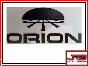Orion Vinyl Logo Sticker in Black