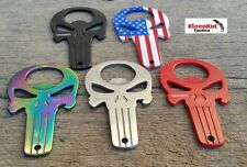 NEW ASSORTED PUNISHER SKULL Beer Bottle Opener SET w/ Pouch EDC EVERYDAY CARRY