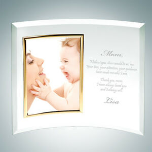 Personalized Curved Vertical Gold Frame
