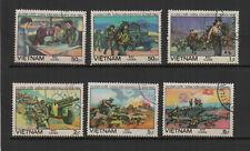 Vietnam 1984 bataille de Diên Biên Phu série de 6 timbres oblitérés /TR8414