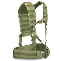 Bulldog MK2 Military Army Cadet MOLLE Airborne Webbing Belt Yoke Set Olive Green