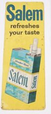 Vintage Salem Refreshes Your Taste Cigarettes Tin Sign Rare 22 x 8 inches