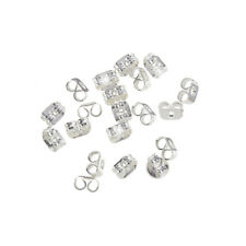 Silver Plated Earring Scroll Back Butterfly - 4mm Pack of 20 (H44/1)