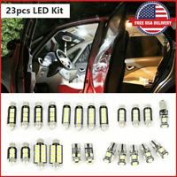 23pcs LED Car Light Bulb Interior Map Dome Trunk License Plate White Lamps Kit