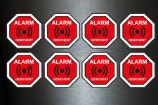 8 x Aufkleber Alarm Gesichert Sirene Überwachung Diebstahlsicher Diebstahl Video
