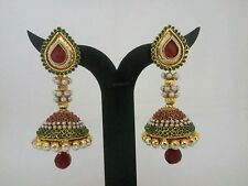 indian Fashion Jewelry Bollywood Jhumka Earring ethnic gold Plated traditional