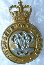 Badge- 7th Queen's Own Hussars Cap Badge; QC (Bi-Metal, Genuine*)