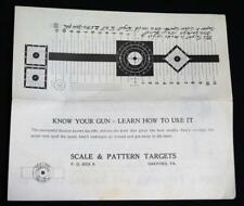 Scale & Pattern Targets Company Advertising Brochure Vintage Gun Firearms