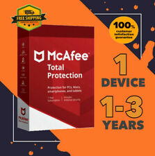 McAfee Total Protection Antivirus 1 Device PC | 1 to 3 Year GLOBAL