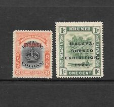 1906 to 1922 King Edward VII / KGV SG17 & SG51 Optd. Mint Hinged BRUNEI