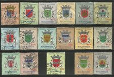 MOZAMBIQUE 1961 COATS OF ARMS OF MOZAMBIQUE Sc#407-23 COMPLETE USED SET 1200