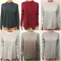 New Ex M&S Ladies Round Neck Long Sleeve Casual Jumper Size 8 - 24 100% Acrylic