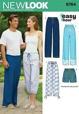 NEW LOOK SEWING PATTERN Miss Men & Teen Pajama Pants & Shorts size XS-XL  6764