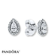 New! Authentic Pandora 925 Silver Radiant Teardrops Stud Earrings #296252CZ