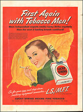 1942 Vintage ad  Lucky Strike Cigarettes`Pretty Model Leaf Red Tobacco   052317)