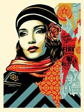 Shepard Fairey Obey Fire Sale Poster Signed/Numbered Limited Edition