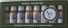 Vallejo Model Colour Val70118 Metallic  8 colour paint set
