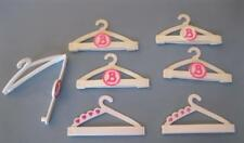 1992 Barbie Doll Wardrobe-Snap N and Store Pants/Clothes Clip Hangers lot 7