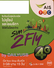 Ais Data Sim 15 Days 4Gb 4G 3G Unlimited Data Usa Turkey Canada South Africa