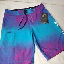 Hurley Phantom Boardshorts Aqua Blue Pink Purple Size 28 Pacsun Exclusive