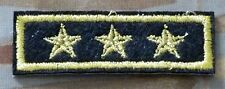 Military Patch - 3 Star Patch -Iron On/Sew On - Lieutenant General - Embroidered