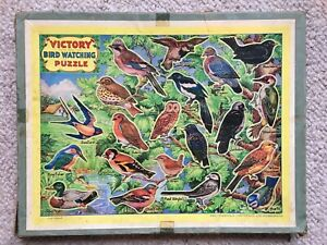 Vintage Victory Bird Watching Jigsaw Puzzle COMPLETE