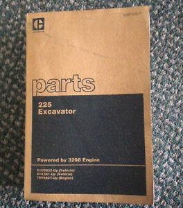 CAT Caterpillar Parts Book 225 Excavator Powered by 3208 Engine