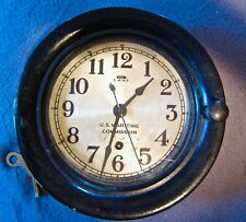 Vintage Seth Thomas U.S. Maritime Commission Wall Clock. Model Fm3645