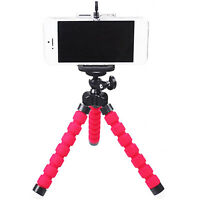 Red Tripod Stand Bubble Sponge Pod Phone Clip for GoPro Camcorder DSLR New