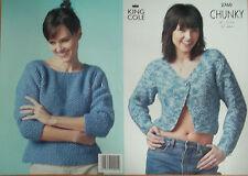King Cole Chunky Knitting Pattern 2760:Sweater & Jacket