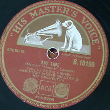 78rpm EDDIE FISHER any time / turn back the hands of time