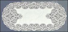 "Ovale, Bianco, Pizzo, Table Runner Nuovo (55 x 120 cm) (22 ""X 47"") elegante regalo / REGALO"