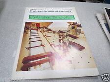 LE NOUVEAU JOURNAL DE CHARPENTE MENUISERIE PARQUETS N° 8-9 septemb 1974 H VIAL *