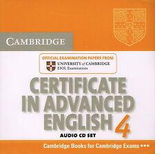 CAE Cambridge CERTIFICATE IN ADVANCED ENGLISH 4 Audio CD Set @NEW SEALED 2 CDs@