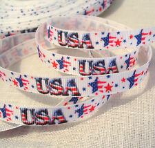 RUBAN GROS GRAIN ** 10 mm ** USA ÉTOILES - vendu au mètre - Couture Scrapbooking